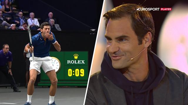 Jokende Federer om sjov episode med Djokovic: Han undskyldte, men jeg accepterede den aldrig