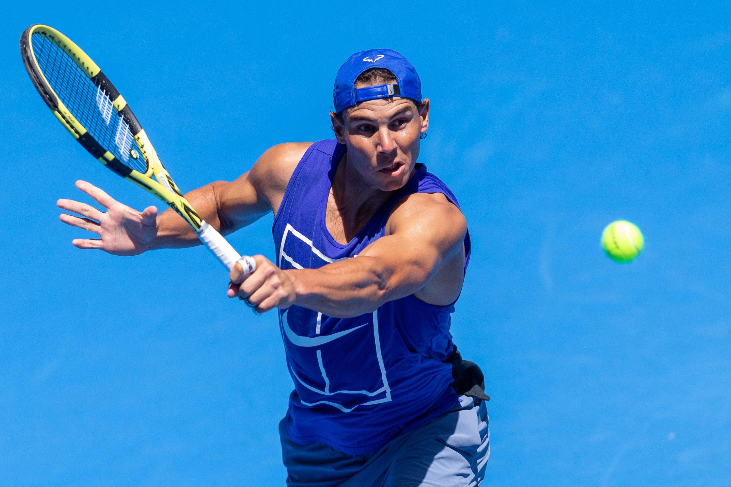 Nadal, entrenamiento Open Australia 2019