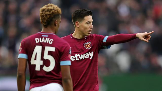 Nasri starts for West Ham against Arsenal, Ozil again absent for visitors