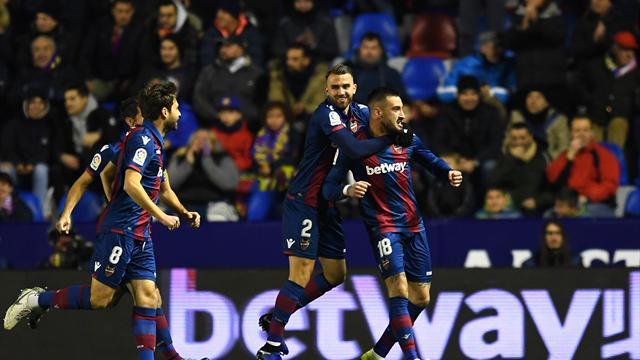 Levante stun Barca to take first leg advantage