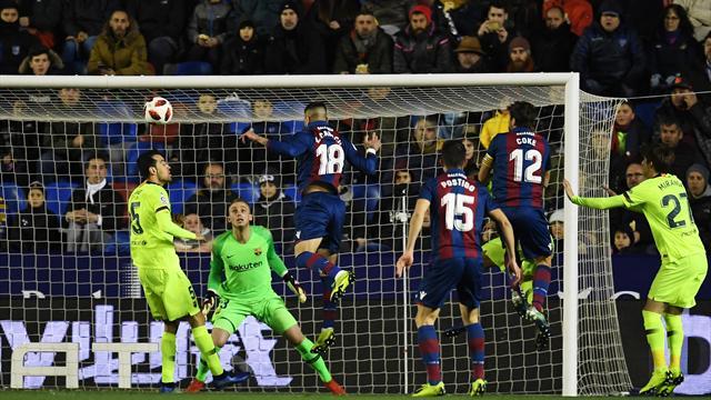 Coutinho rende meno amaro il ko col Levante, tra una settimana il ritorno al Camp Nou