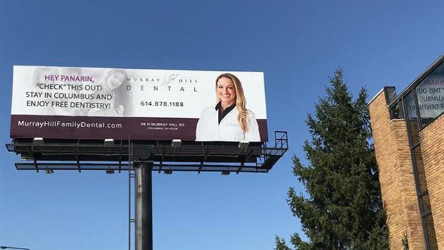 «Предложение действует на мою собаку?» Новый билборд в Коламбусе пообещал Панарину лечение зубов