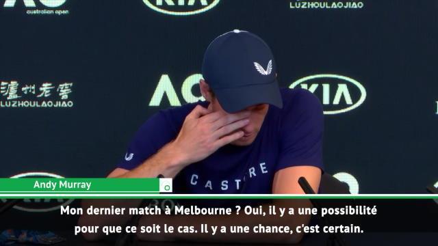 Open d'Australie - Murrray : ''Mon dernier match à Melbourne ? Il y a des chances''