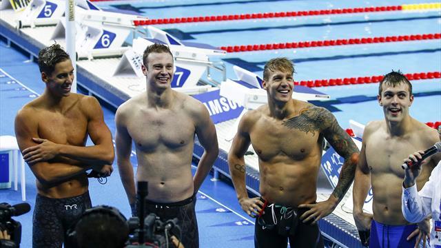 Kurzbahn-WM: US-Staffel sorgt für nächsten Weltrekord