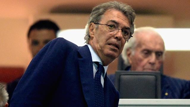 """Moratti: """"Conte all'Inter lo vedo bene, Mourinho-Juve la prenderei male. Icardi? Caos inutile"""""""