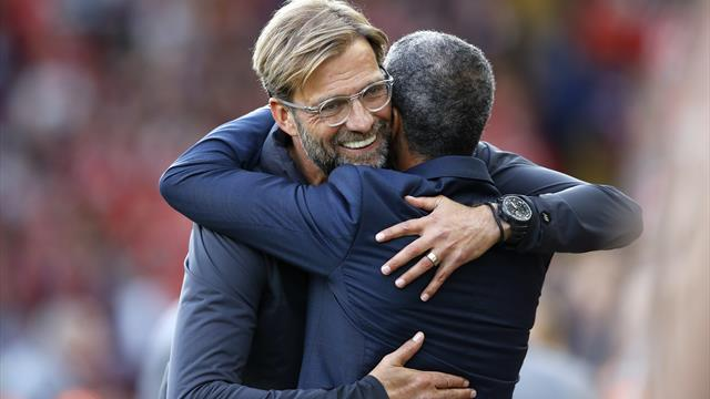 Hughton hails 'outstanding' Klopp contribution to Premier League football