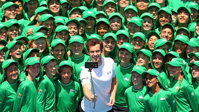 Autodérision et selfies hilarants : Murray n'est pas qu'un immense champion sur le court
