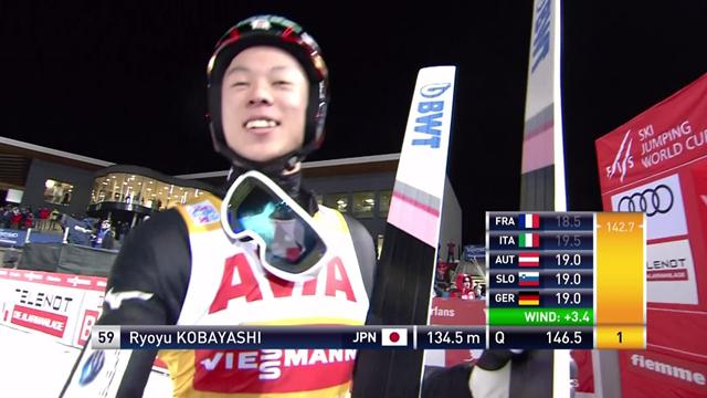 Kobayashi tops qualifing at Val Di Fiemme
