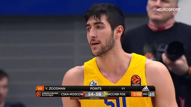 Il Maccabi sbanca Mosca! Ci pensa il baby Zoosman a piegare il CSKA