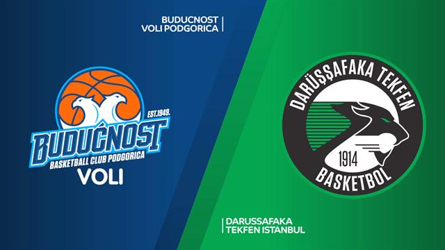Highlights: Buducnost VOLI-Darussafaka Tekfen 75-74