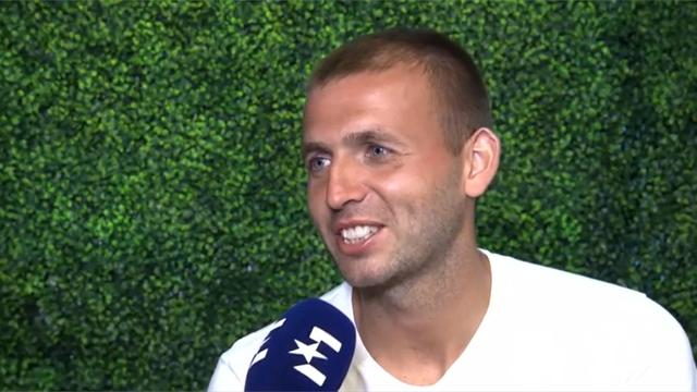 Dan Evans reacts to his 'miracle shot'