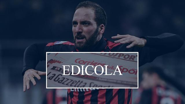 Edicola: Higuain ha scelto il Chelsea, il Real chiede Dybala in cambio di Isco alla Juventus