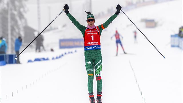 Vittozzi a pu savourer, Bescond a damé le pion à Wierer pour la 4e place