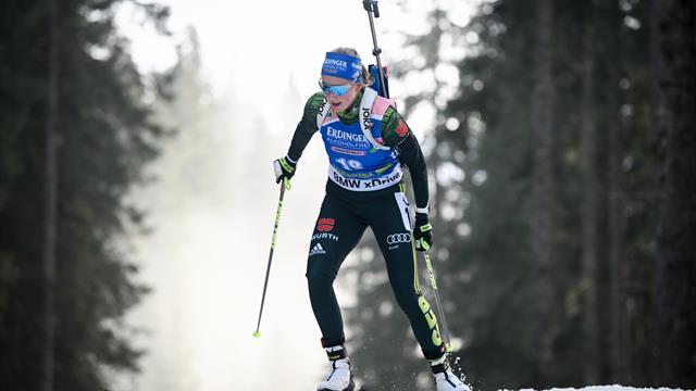 Biathlon-Verfolgung: Preuß läuft von 45 auf Rang sechs