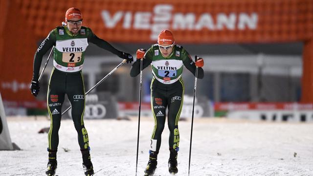 Deutsche Kombinierer verpassen Teamsprint-Sieg knapp