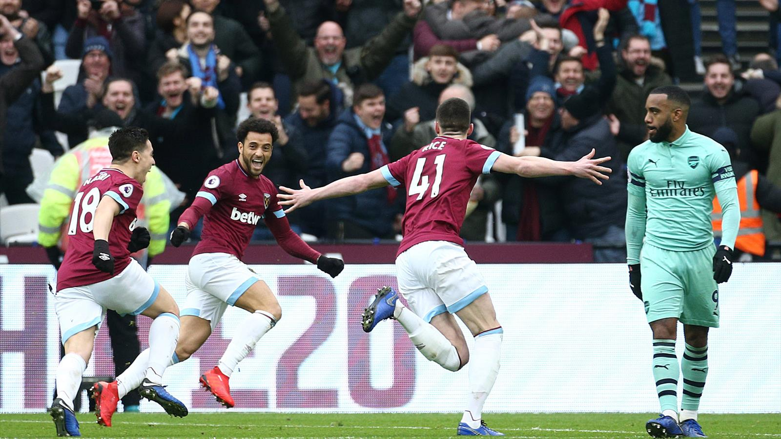 Rice takes centre stage for West Ham as off-colour Arsenal ...