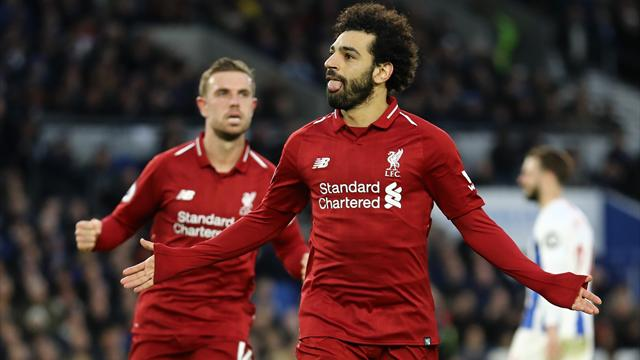 Salah spot-kick rescues lacklustre Liverpool at Brighton