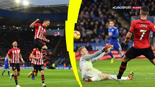Highlights: Southampton tog sejren mod Leicester trods en mand i undertal i hele anden halvleg