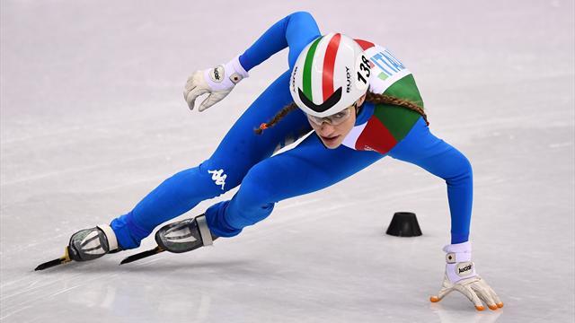 Europei short track: Martina Valcepina non sbaglia, è argento nei 500 metri