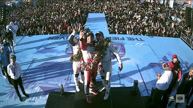 Top three celebrate on Marrakech podium