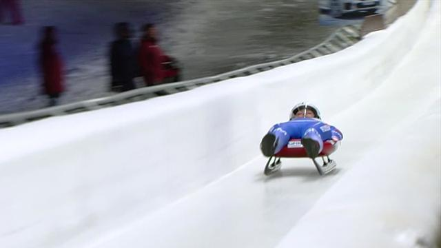 Ivanova slides to luge victory for Russia in Sigulda