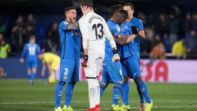 1-2. El Villarreal falla un penalti en la prolongación ante un intenso Getafe