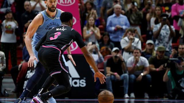 112-108. Winslow con 26 puntos y Wade con un tapón dan el triunfo a los Heat