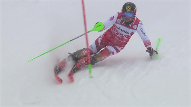 Hirscher recovers to go second in Adelboden after first run