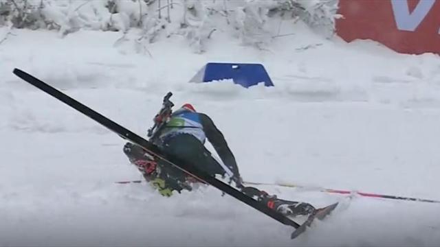 """""""Mächtiger Crash"""" von Hildebrand bei der Staffel in Oberhof"""