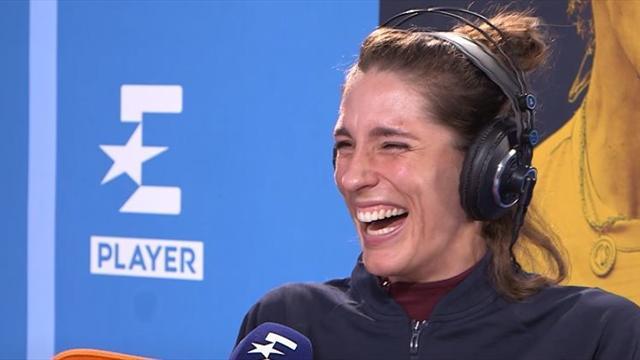 Unentschieden im Tennis!? Petkovic lacht sich über Anekdote schlapp