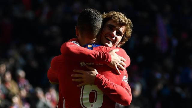 Atletico Madrid di rigore: 1-0 al Levante e -2  dal Barcellona; cori per il rinnovo a Godin