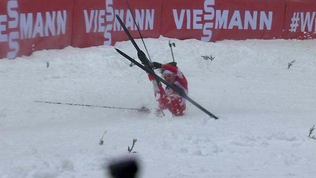 Sturzserie bei der Biathlon-Staffel in Oberhof