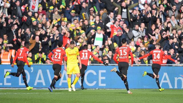 Un Rennes solide profite de l'imprécision nantaise