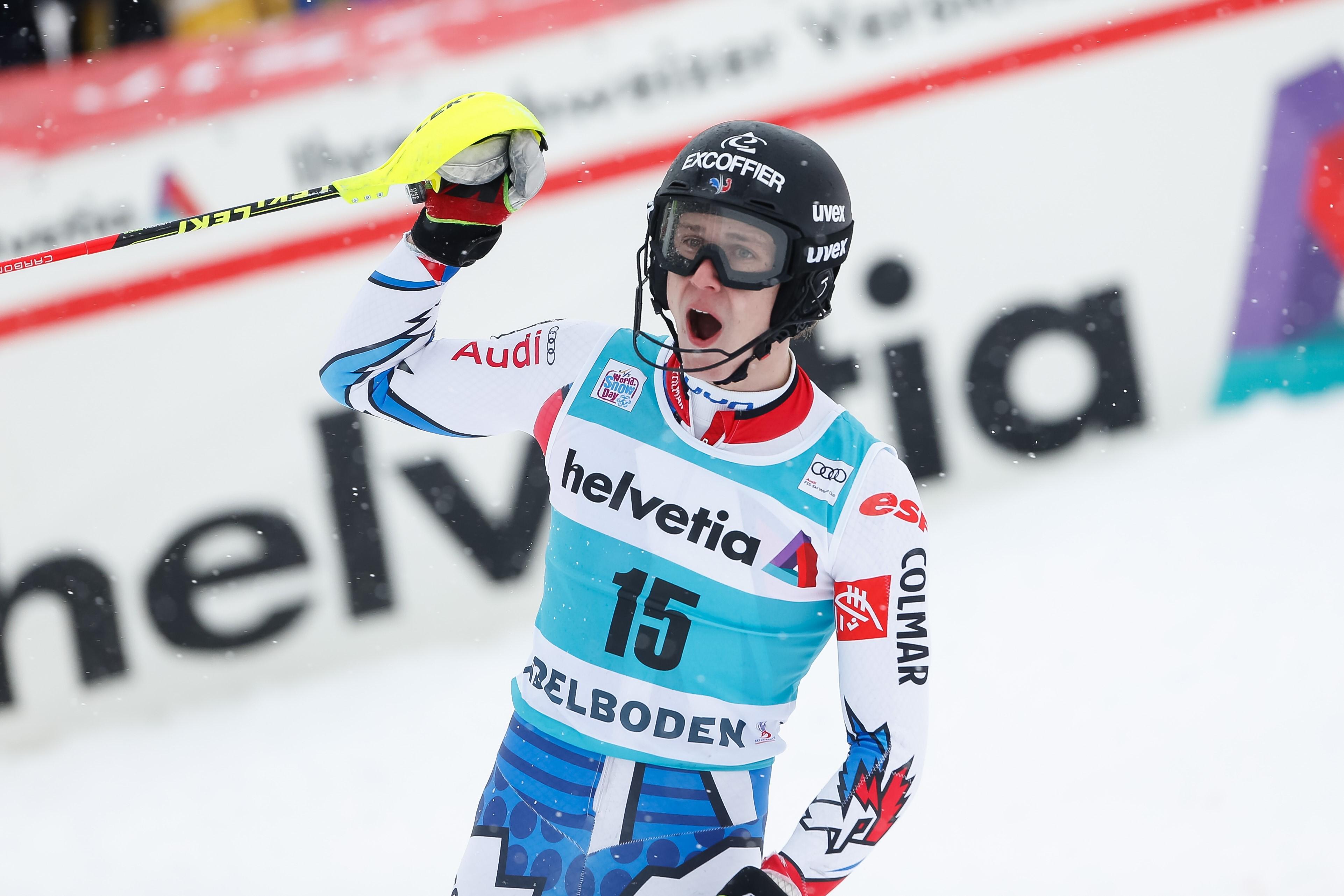 Céement Noël lors du slalom à Adelboden le 13 janvier 2019