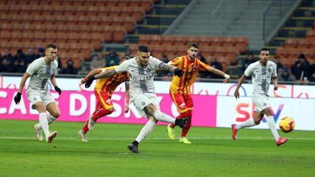 Icardi y Lautaro golean al Benevento y lanzan al Inter hacia cuartos