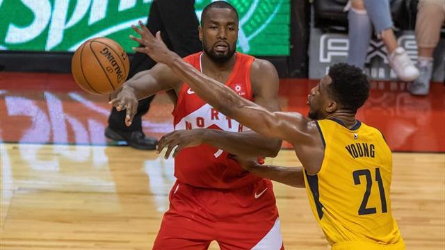 138-140. Triple de Ibaka decide triunfo de Raptors, quinto consecutivo