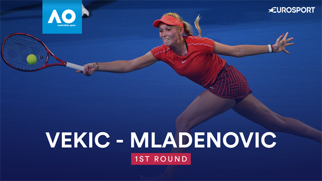 Australian Open: Vekic-Mladenovic 6-2 6-4, gli highlights