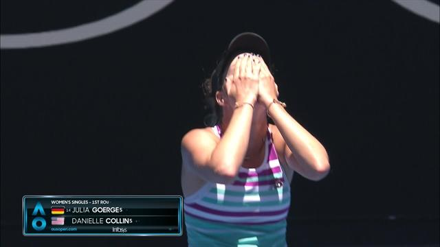 14th seed Goerges toppled by Collins