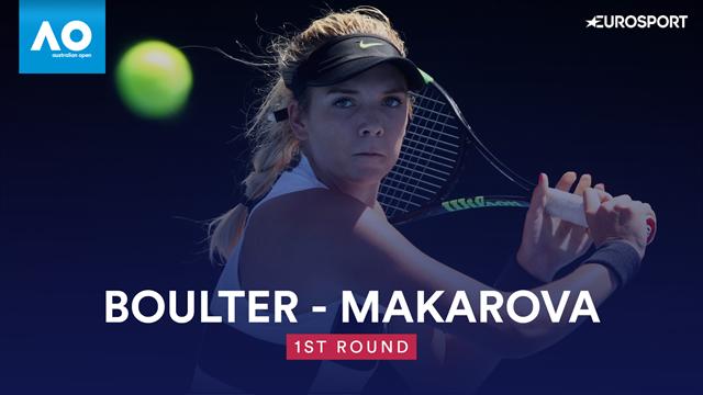Highlights: Impressive Boulter prevails in Makarova ding-dong
