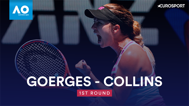 Australian Open: Collins-Goerges 2-6 7-6 6-4, gli highlights