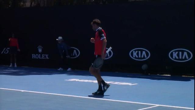 Australian Open, Haase chiude lo scambio con una palla corta spettacolare