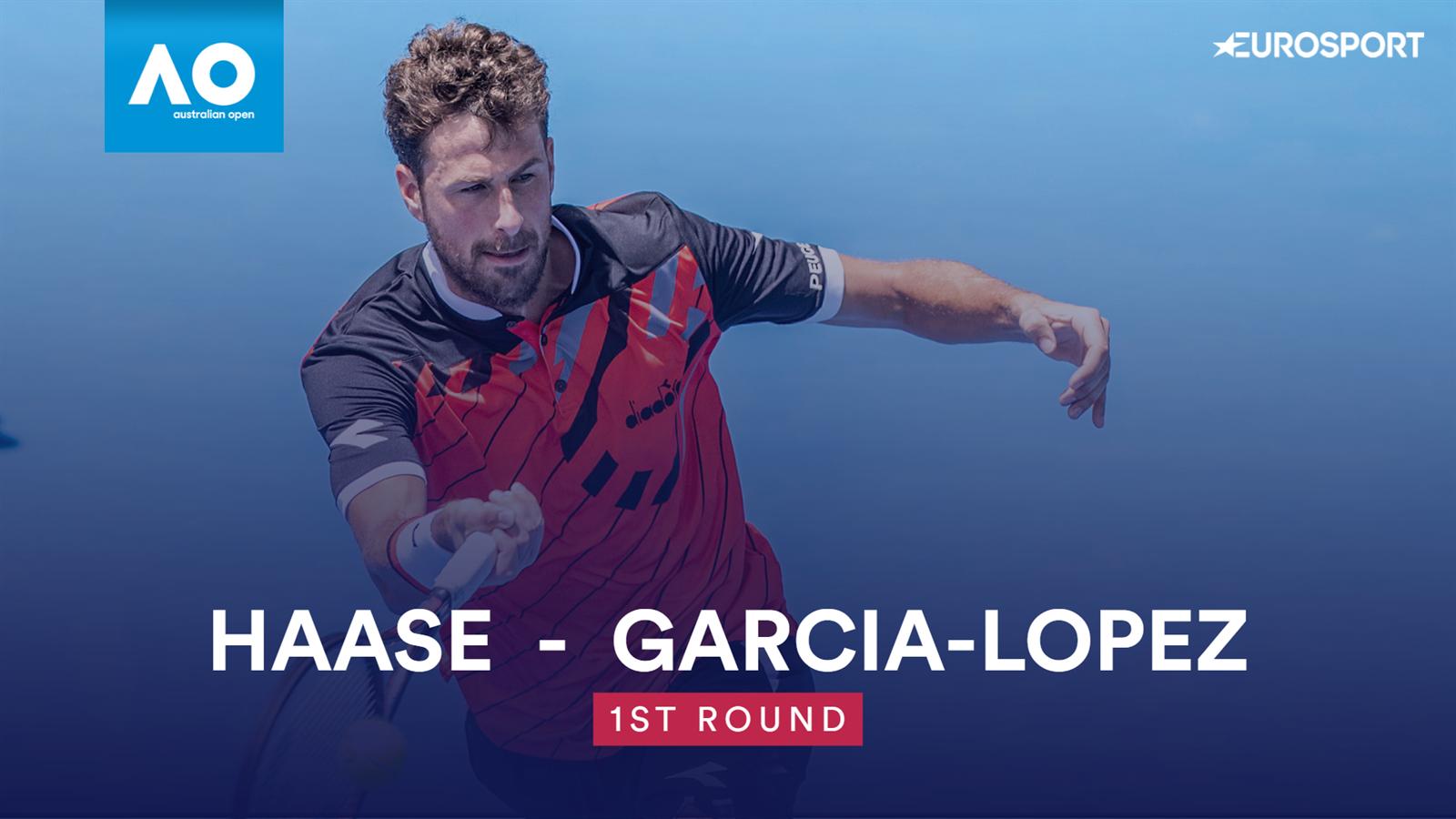 Samenvatting Robin Haase - Guillermo Garcia-Lopez (1e ronde Australian Open)