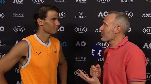 "Open Australia 2019: Nadal, a Eurosport: ""Partido sólido y objetivo cumplido"""