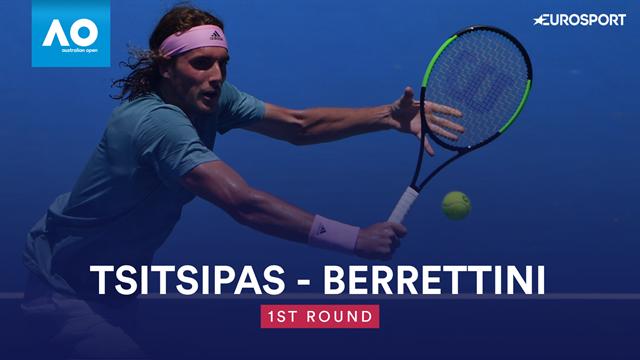 Open Australia 2019: Tsitsipas-Berrettini, vídeo resumen del partido
