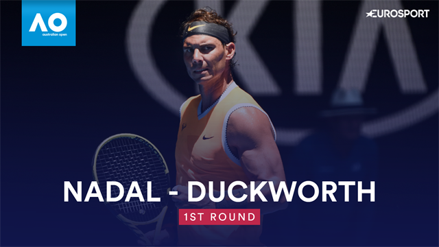 Australian Open: Nadal-Duckworth 6-4 6-3 7-5, gli highlights