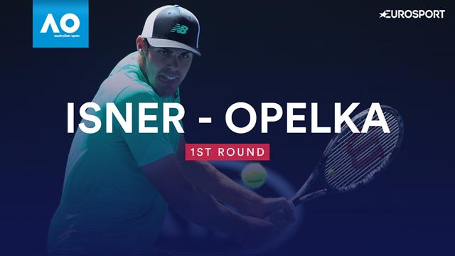 Highlights: Veteran Isner falls to Opelka