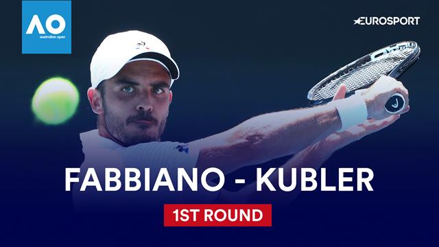 Australian Open: Fabbiano-Kubler 6-4 7-6 2-6 6-3, gli highlights