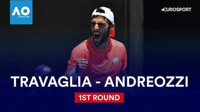 Australian Open: Travaglia-Andreozzi 6-7 6-2 6-3 6-2, gli highlights
