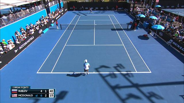 Highlights: McDonald dumps out Rublev