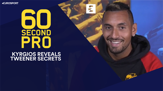 60 Second Pro: Kyrgios reveals the secrets of the tweener